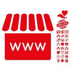 webstore icon with valentine bonus vector image