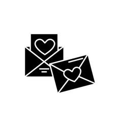 wedding invitation black icon sign on vector image