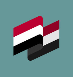 Yemen flag ribbon isolated yemeni tape banner vector