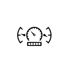 car speedometer and dashboard vector image
