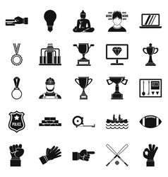 chief icons set simple style vector image vector image