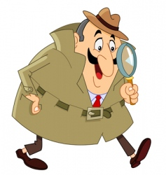 detective vector image vector image