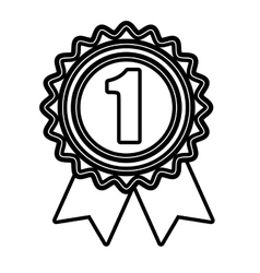 First place medal in black and white colors vector image vector image