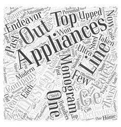 Ge monogram appliances word cloud concept vector