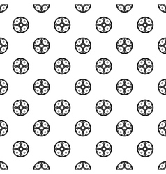Round battle shield pattern simple style vector