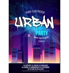 Urban Dance Party Poster Background Template - vector image vector image