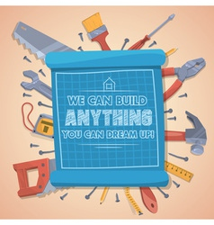 We can build anything you can dream up vector image vector image