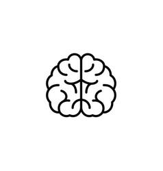 brain icon on white background vector image
