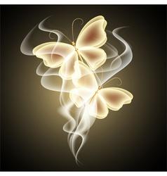 Glowing butterflies vector image vector image