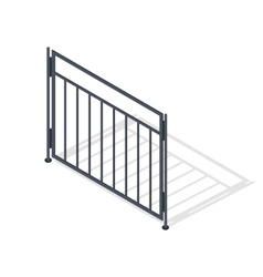 Steel Fence Section In Isometric Projection vector image vector image