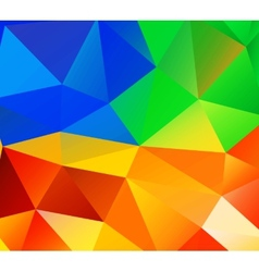 Triangle background Colorful polygons vector image
