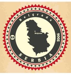 Vintage label-sticker cards of Serbia vector image vector image