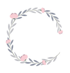 wreath of flowers and leaves of vintage style vector image