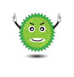 durian cartoon character design fruit vector image