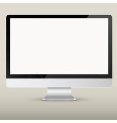 Empty computer screen vector image vector image