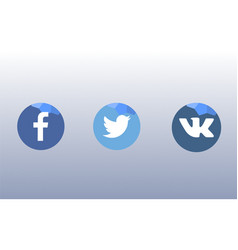 Icons for social networks apps and web vector