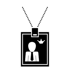 Identification card with necklace vector image