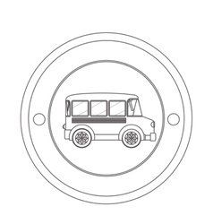 Isolated school bus vector image vector image