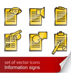 set informational sign icon vector image