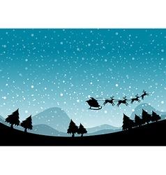 Silhouette Christmas vector image