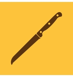 The knife for cutting bread icon Knife and chef vector image vector image