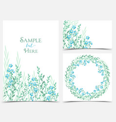 backgrounds with blue flowers vector image vector image