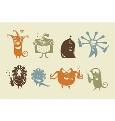 Drunk Happy Monsters vector image vector image
