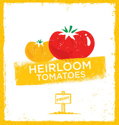 fresh home grown heirloom tomatoes creative vector image vector image