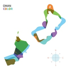 Abstract color map of Oman vector image
