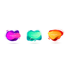 abstract modern banners with gradient colors vector image