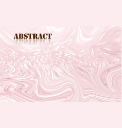 abstract pastel pink acrylic paint waves surface vector image