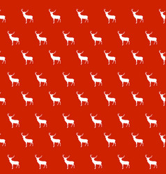 abstract seamless deer pattern background vector image