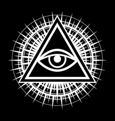 all-seeing eye the eye of providence vector image