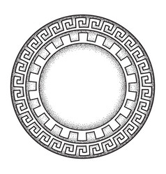 Antique greek style meander ornament frame vector