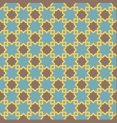 Arabic lattice pattern with stars vector