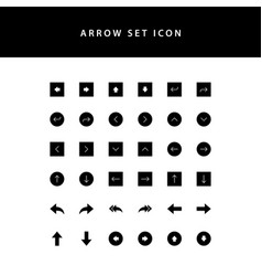 arrows icons set glyph style vector image