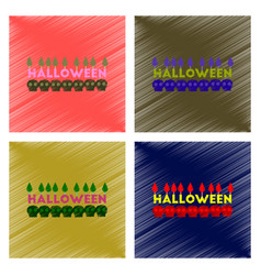 Assembly flat shading style icon candle halloween vector