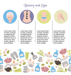 background with spa icons background with spa vector image