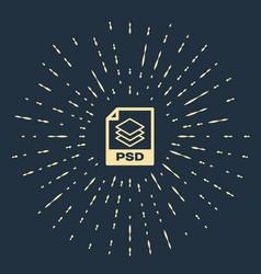 Beige psd file document download psd button icon vector