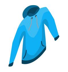 blue winter hood icon isometric style vector image
