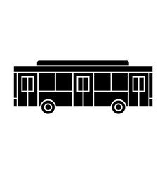 bus black icon concept bus sign symbo vector image