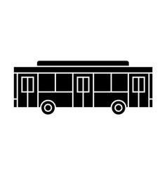 Bus black icon concept bus sign symbo vector