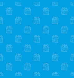 calendar february 14 pattern seamless blue vector image