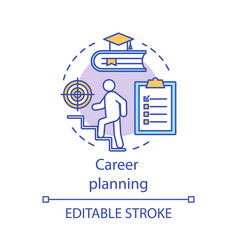 Career planning concept icon vector