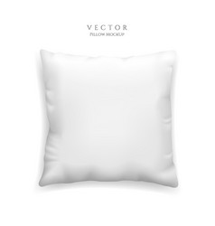 clean white pillow mockup isolated on white vector image
