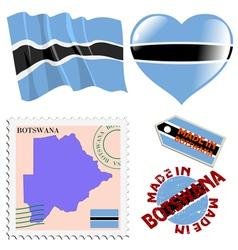 Colours of Botswana vector