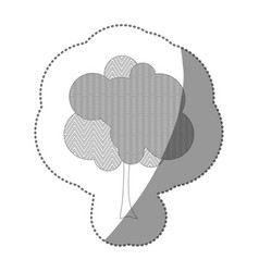 contour stylized tree icon vector image