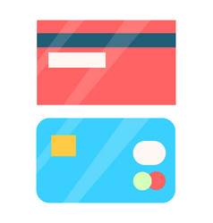 credit cards collection object vector image
