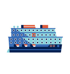 cruise ship or ocean liner icon vector image