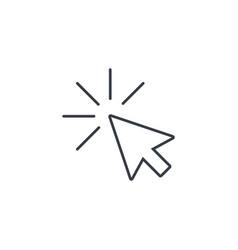 cursor arrow click thin line icon linear vector image